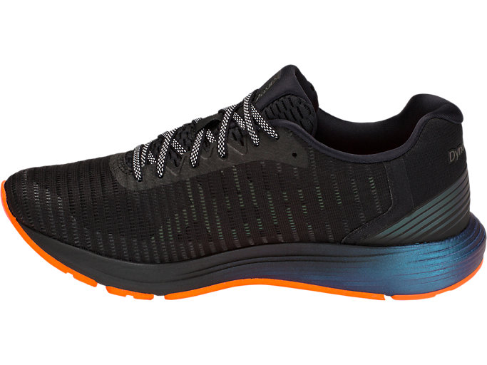 Left side view of DYNAFLYTE 3 LITE-SHOW, BLACK/SHOCKING ORANGE