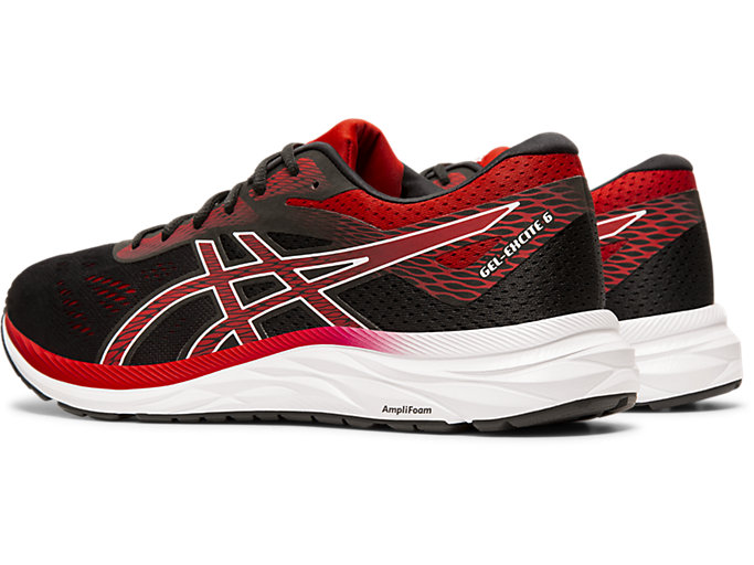 Front Left view of GEL-EXCITE™ 6, BLACK/SPEED RED