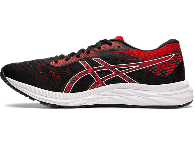 Left side view of GEL-EXCITE™ 6, BLACK/SPEED RED