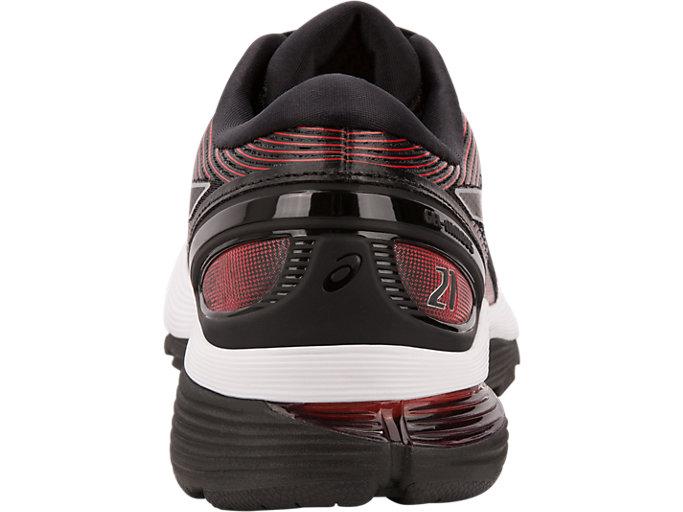 Back view of GEL-NIMBUS™ 21, BLACK/CLASSIC RED