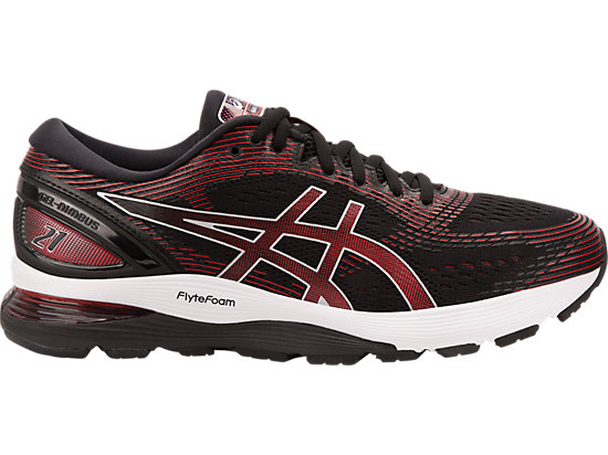 GEL-NIMBUS 21, BLACK/CLASSIC RED