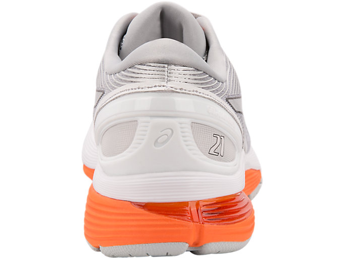 Back view of GEL-NIMBUS™ 21, MID GREY/WHITE