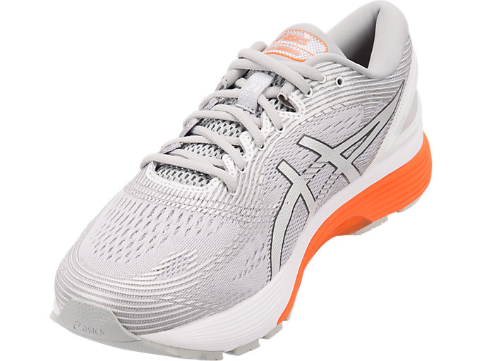 Front Left view of GEL-NIMBUS™ 21, MID GREY/WHITE