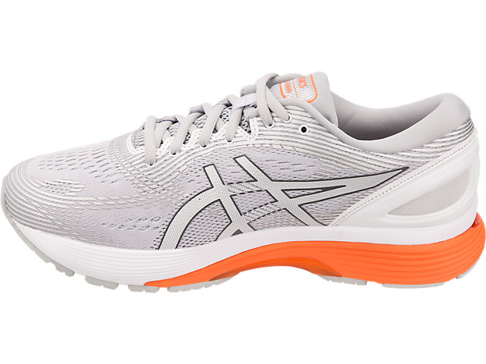 Left side view of GEL-NIMBUS™ 21, MID GREY/WHITE
