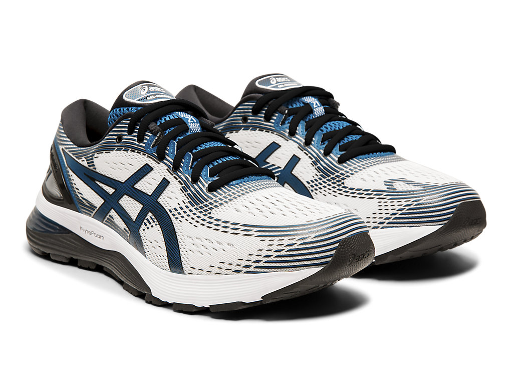 ASICS-Men-039-s-GEL-Nimbus-21-Running-Shoes-1011A169 thumbnail 56