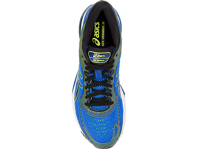 Top view of GEL-NIMBUS 21, ILLUSION BLUE/BLACK