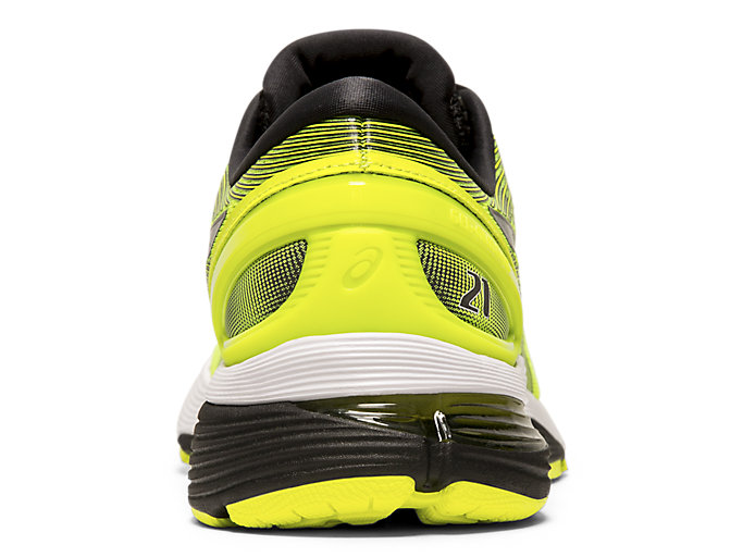 Back view of GEL-NIMBUS™ 21, SAFETY YELLOW/BLACK