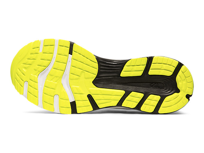 Bottom view of GEL-NIMBUS™ 21, SAFETY YELLOW/BLACK