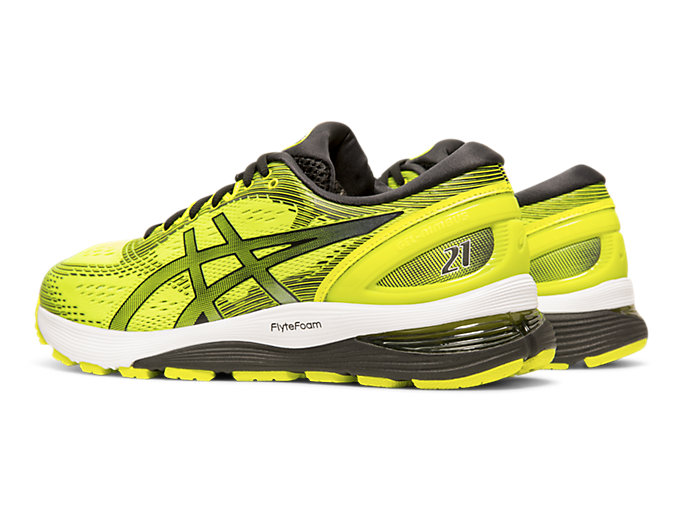 Front Left view of GEL-NIMBUS™ 21, SAFETY YELLOW/BLACK