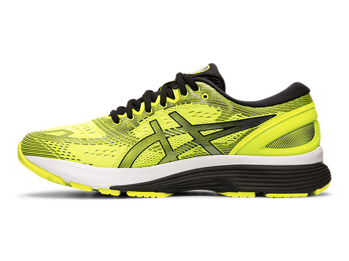 Left side view of GEL-NIMBUS™ 21, SAFETY YELLOW/BLACK