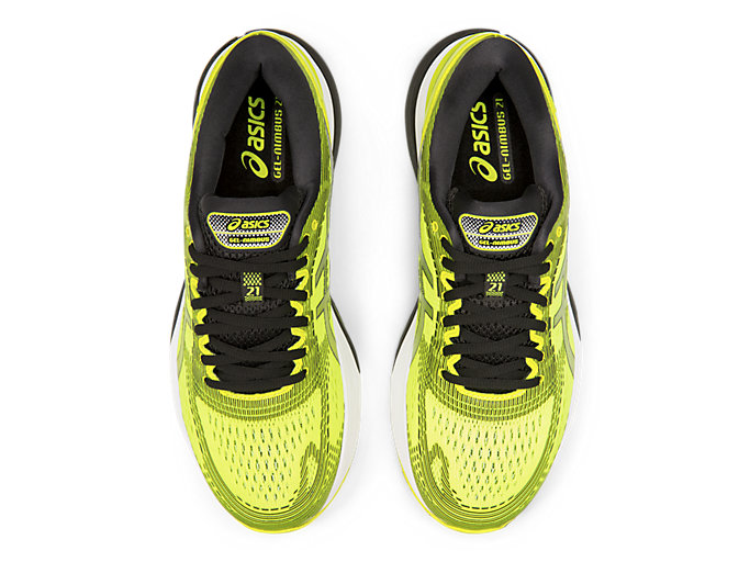 Top view of GEL-NIMBUS™ 21, SAFETY YELLOW/BLACK