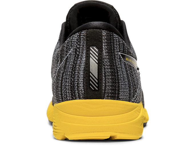 Back view of DS-TRAINER 24, BLACK/TAI-CHI YELLOW