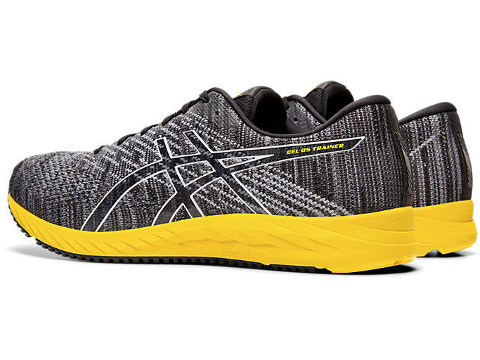 Front Left view of DS-TRAINER 24, BLACK/TAI-CHI YELLOW