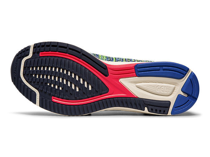 Bottom view of GEL-DS TRAINER™ 24, ELECTRIC BLUE/BIRCH