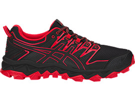 ASICS GEL-FUJITRABUCO 7 running shoes for men, BLACK/CLASSIC RED