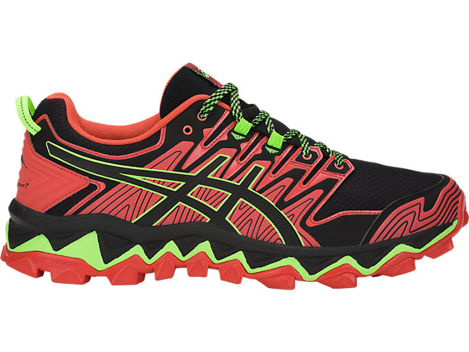 official photos 051b8 0a68f Chaussures de trail running ASICS GEL-FUJITRABUCO 7 pour hommes, RED  SNAPPER BLACK