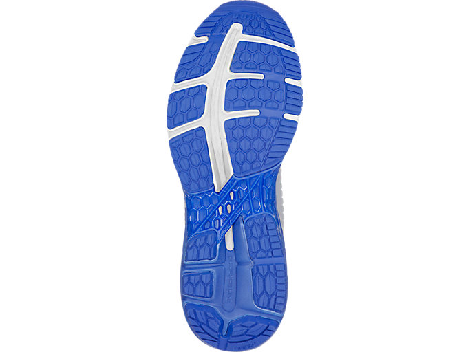 Bottom view of GEL-KAYANO 25 LITE-SHOW, MID GREY/ILLUSION BLUE
