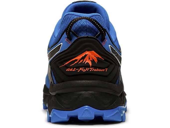 Back view of GEL-FUJITRABUCO™ 7 G-TX, ELECTRIC BLUE/BLACK