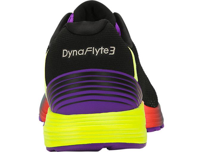 Back view of DYNAFLYTE 3 SP, BLACK/WHITE