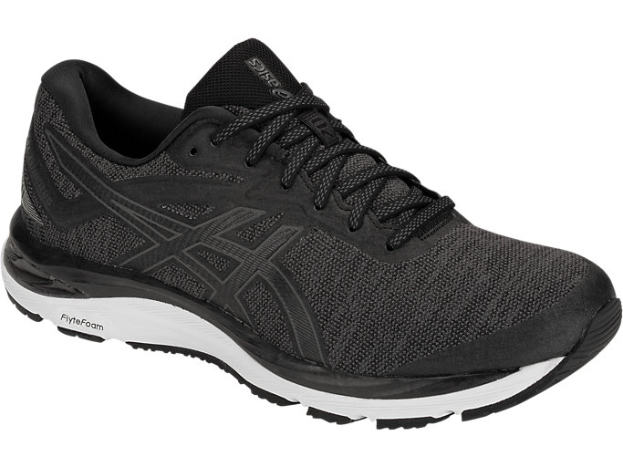 Front Right view of GEL-CUMULUS 20 MX, BLACK/DARK GREY