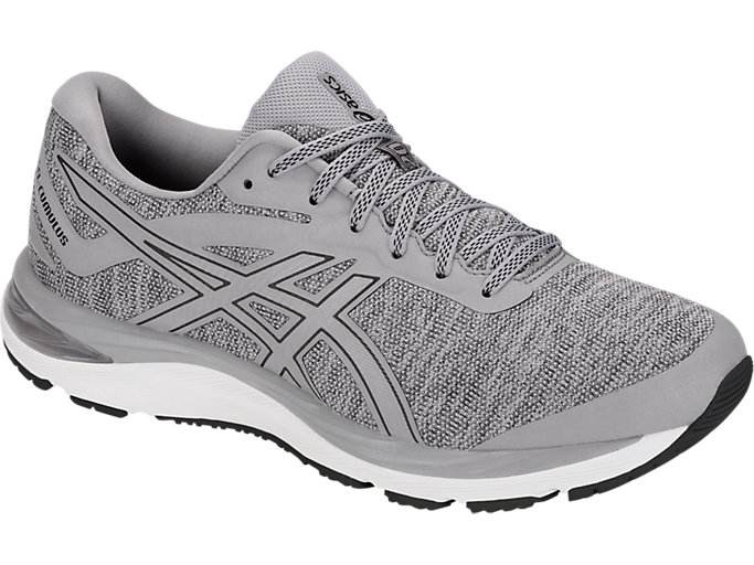 Front Right view of GEL-CUMULUS 20 MX, STONE GREY/BLACK