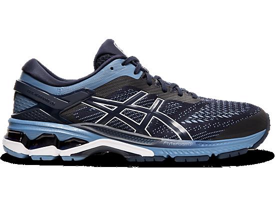 Details about ASICS Running Sneakers Men Size 13 Gel Flyte foam Dynamic Duomax Blue Black Grey