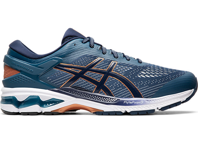 Right side view of GEL-KAYANO 26, GRAND SHARK/PEACOAT