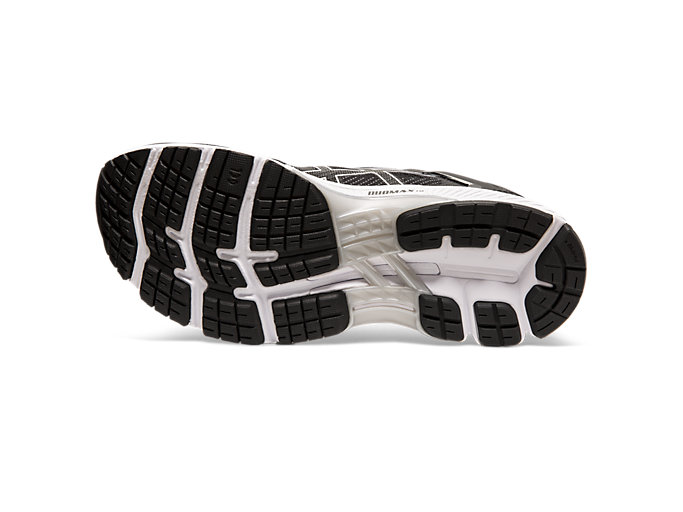 Bottom view of GEL-KAYANO™ 26, BLACK/WHITE