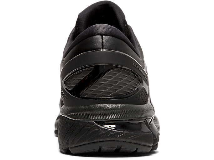 Back view of GEL-KAYANO™ 26, BLACK/BLACK