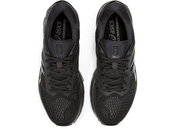 Top view of GEL-KAYANO™ 26, BLACK/BLACK