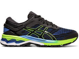 GEL-KAYANO 26, BLACK/ELECTRIC BLUE