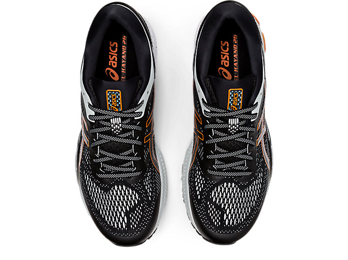Top view of GEL-KAYANO 26, BLACK/POLAR SHADE