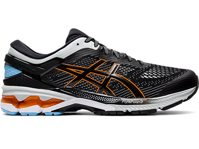 Right side view of GEL-KAYANO 26, BLACK/POLAR SHADE