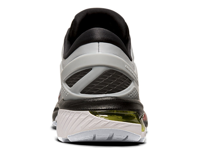 Back view of GEL-KAYANO™ 26, PIEDMONT GREY/BLACK