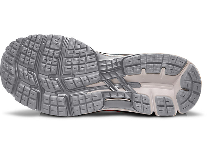 Bottom view of GEL-KAYANO™ 26, PIEDMONT GREY/BLACK