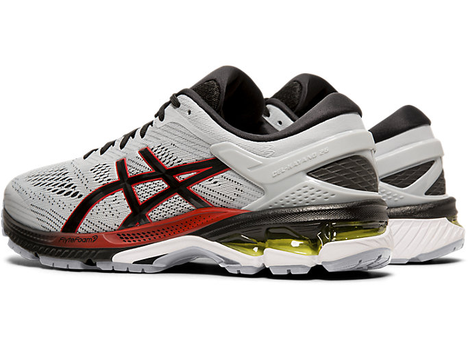 Front Left view of GEL-KAYANO™ 26, PIEDMONT GREY/BLACK