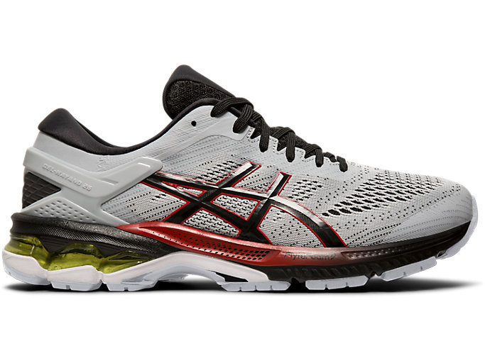 Right side view of GEL-KAYANO™ 26, PIEDMONT GREY/BLACK