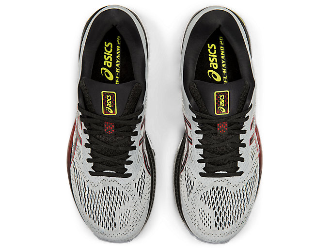 Top view of GEL-KAYANO™ 26, PIEDMONT GREY/BLACK