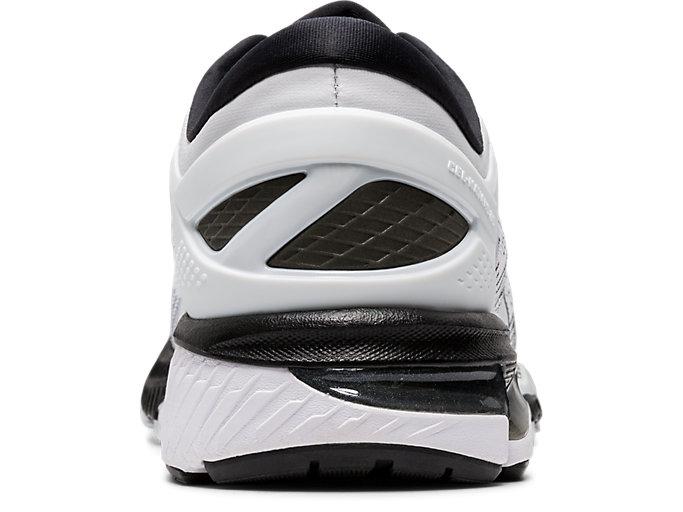 Back view of GEL-KAYANO™ 26, WHITE/BLACK