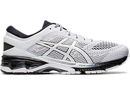 Right side view of GEL-KAYANO 26, WHITE/BLACK