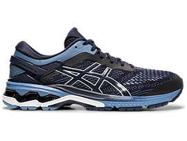 Right side view of GEL-KAYANO™ 26, MIDNIGHT/GREY FLOSS