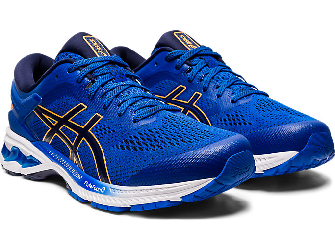 Front Right view of GEL-KAYANO™ 26, TUNA BLUE/PEACOAT
