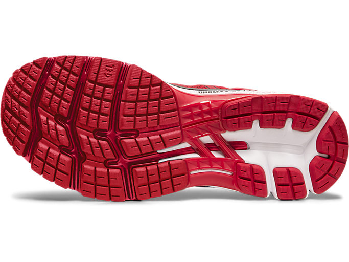 Bottom view of GEL-KAYANO™ 26, SPEED RED/BLACK