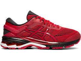 Right side view of GEL-KAYANO 26, SPEED RED/BLACK