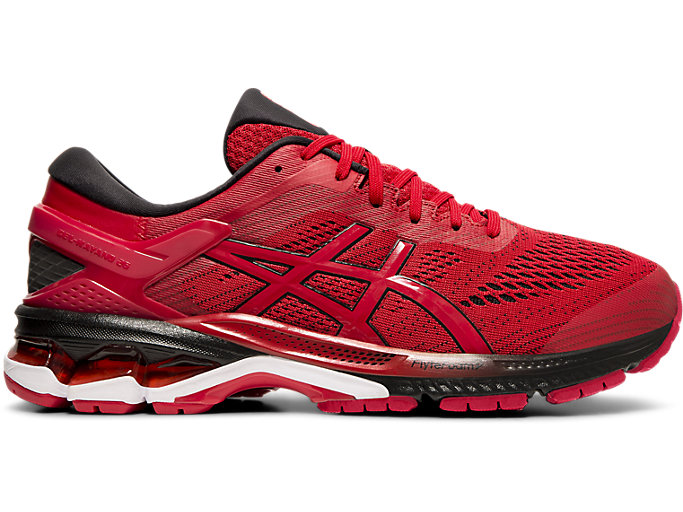 Right side view of GEL-KAYANO™ 26, SPEED RED/BLACK