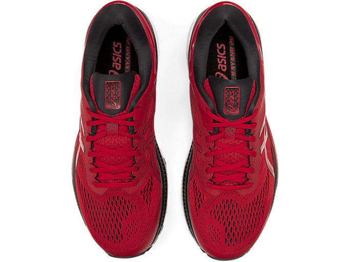 Top view of GEL-KAYANO™ 26, SPEED RED/BLACK