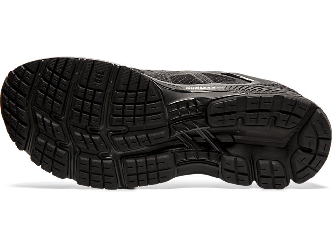 Bottom view of GEL-KAYANO™ 26, BLACK/BLACK