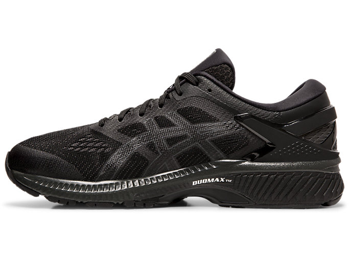 Left side view of GEL-KAYANO™ 26, BLACK/BLACK