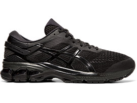 Right side view of GEL-KAYANO™ 26, BLACK/BLACK