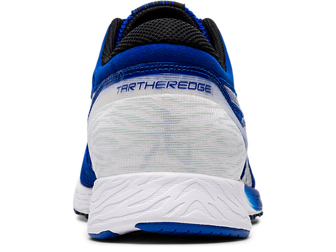 Back view of TARTHEREDGE, ASICS BLUE/PURE SILVER